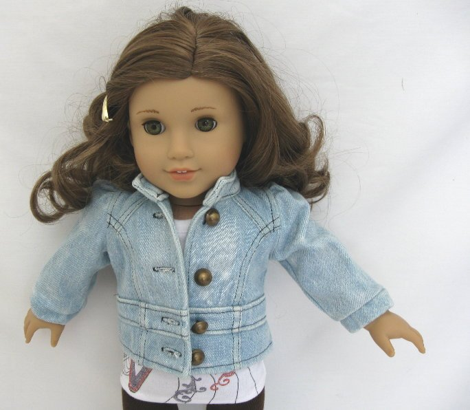 OFFER Light Blue Denim Band Jacket /