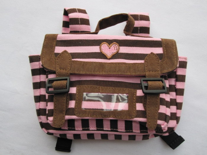Pink and Brown Back Pack /