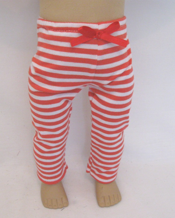 Red Footless Leggings