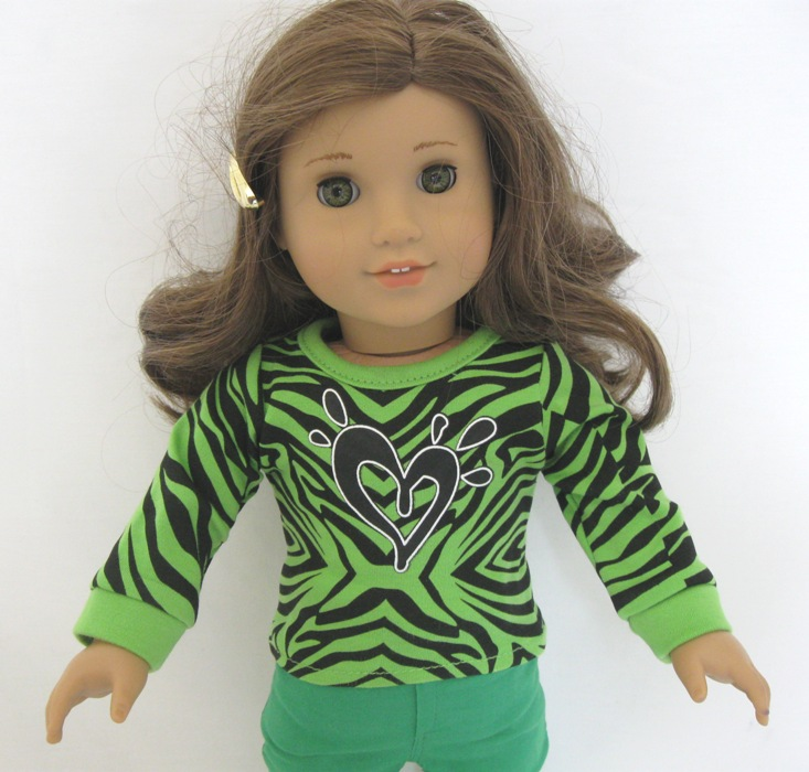OFFER Neon Green Leapard Heart Top