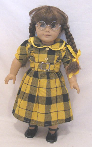 OFFER Yellow and Black Plaid Dress