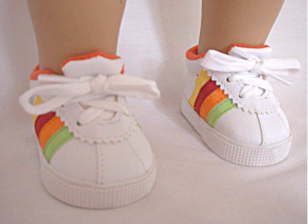 Rainbow Tennis Shoe /