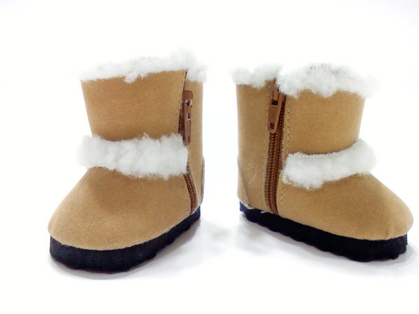Sand Faux Shearling Boots /