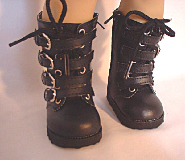 Black Buckle Boots /