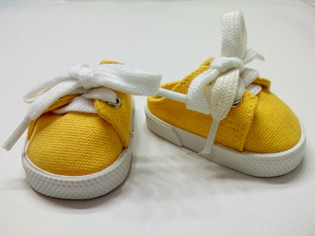 Yellow Backless Canvas Mules /