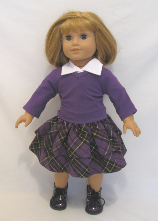 Purple Skirt Set