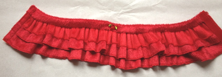 OFFER Red Ruffle Skirt Set