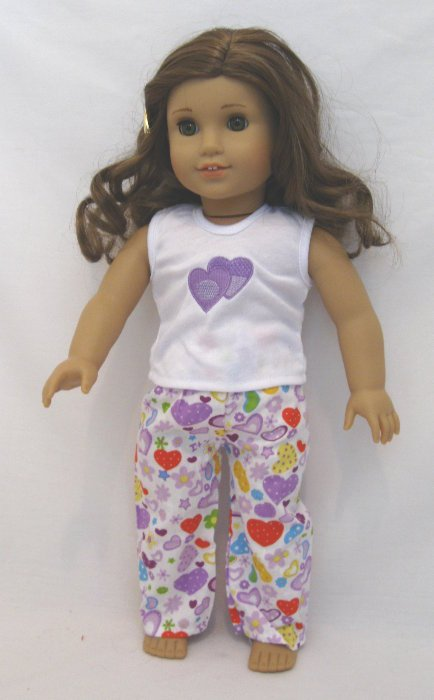 Lavender Heart Pajama Set
