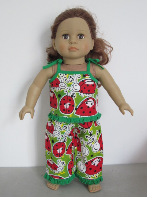 Lady Bug Print Cotton Pajamas