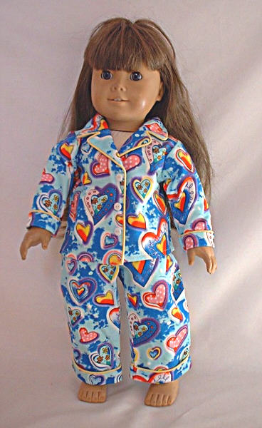 Blue Heart Pajamas /
