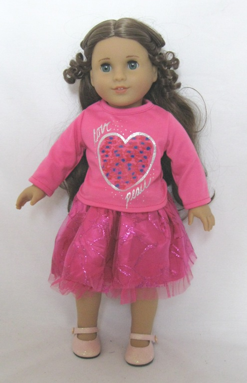 OFFER Pink Heart Top and Skirt Set