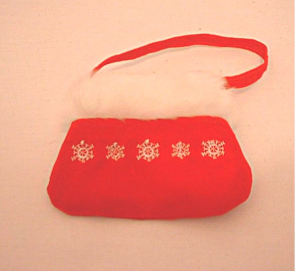 OFFER Red purse with fur trim