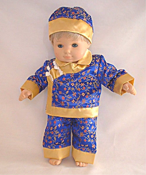 "SALE 15"" Girl Blue Traditional Chinese Set"
