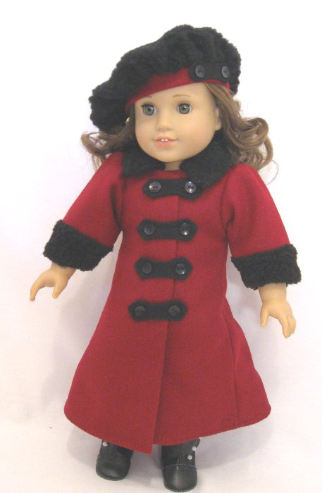 Red Wool Victorian Coat /
