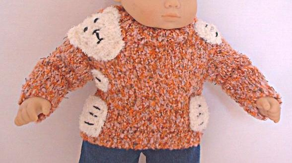 OFFER Orange Bear Hugs Sweater