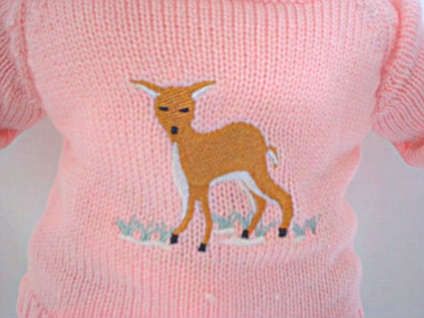 American Girl Baby Deer Sweater /