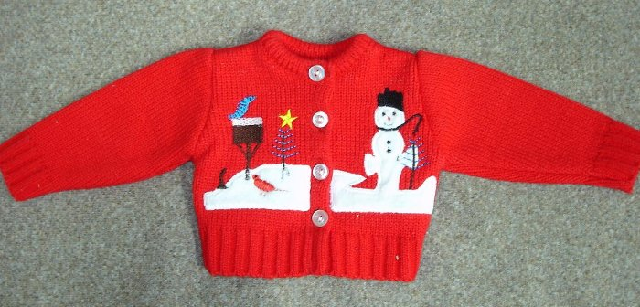 Cardigan Winter Scene Sweater