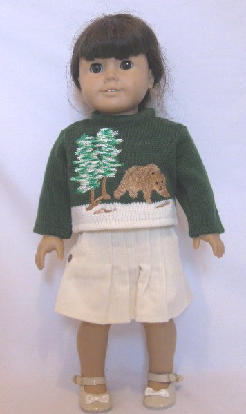OFFER Bear Sweater skirt set