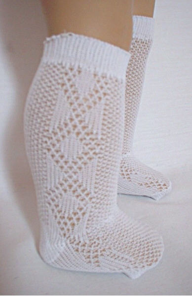 Diamond Pattern Knee High Socks /