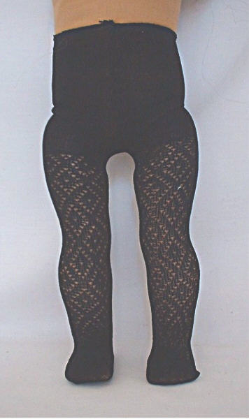 Black Black Diamond Pattern Tights /
