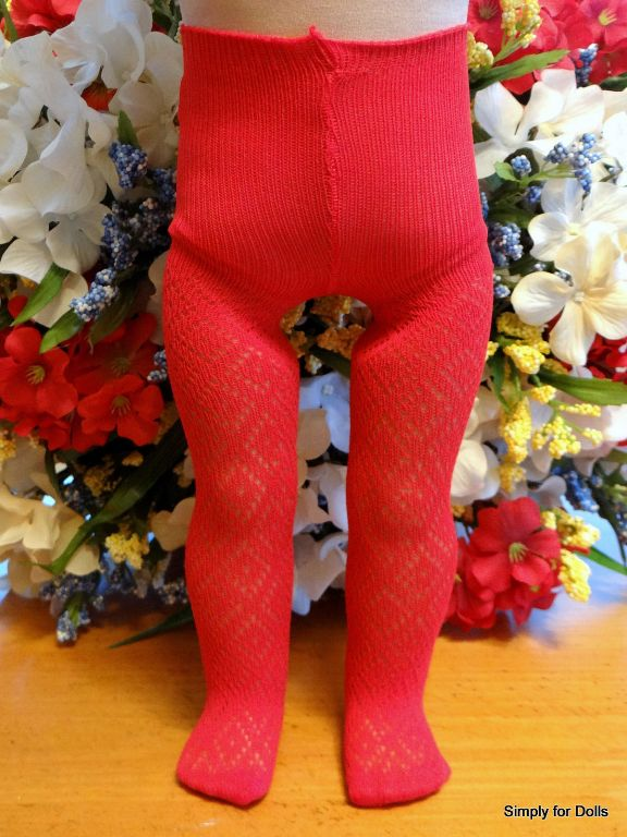 Red Diamond Pattern Tights /