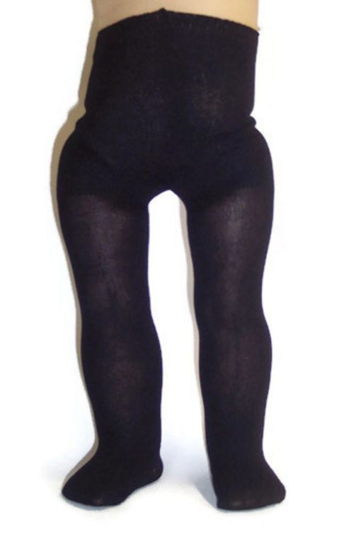 Black Plain Tights/