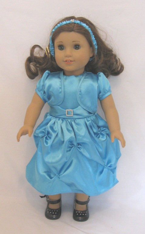 Blue Jacket and Dress Set