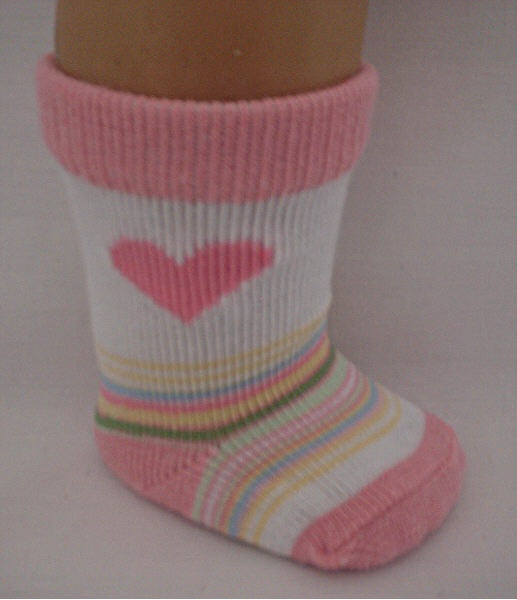 Heart and Stripe socks /