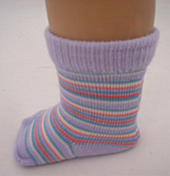 Lavender Stripe Socks /