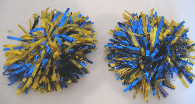 OFFER 5 Sets 2 Of Blue And Gold Pom Poms