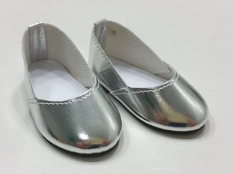 Silver SAlip On SHoes