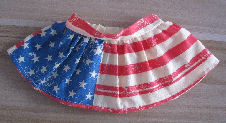 Red White and Blue Skirt