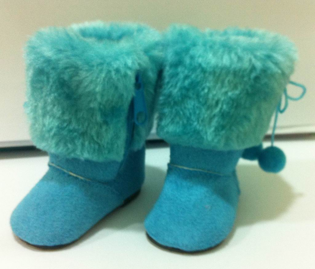 Blue Fur Top Boots