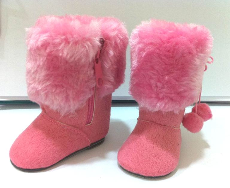 Pink Fur Top Boots