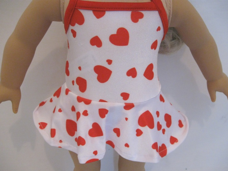 Heart Print One Piece Swimsuit