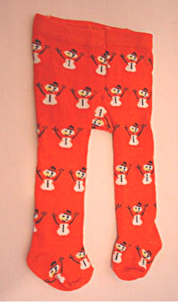 Red Snowman Tights /