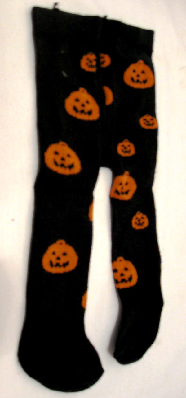 Orange Pumpkins Tights /