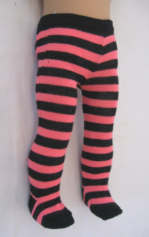 Black and Pink Stripe Tights