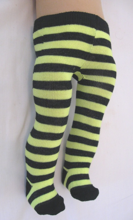 Black and Yellow Stripe Tights