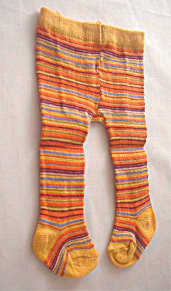 Yellow and Orange Stripe Tights /