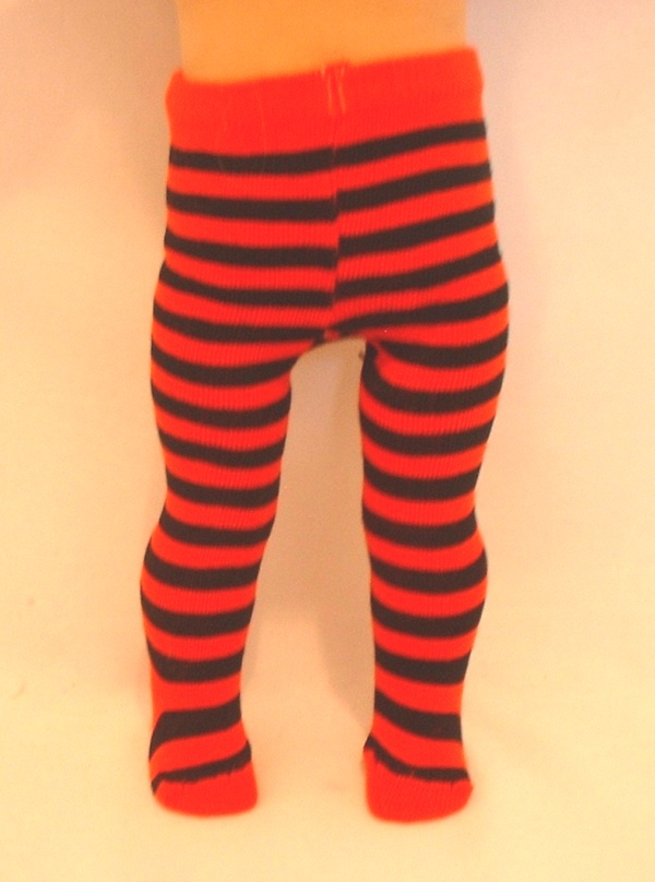 Red and Black Stripe Tights