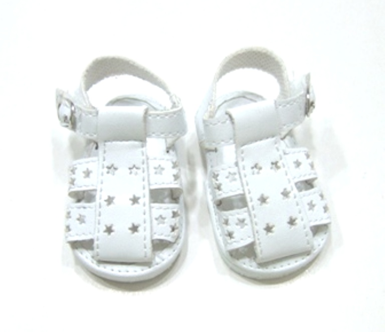White Star Cut Fisherman's Sandals
