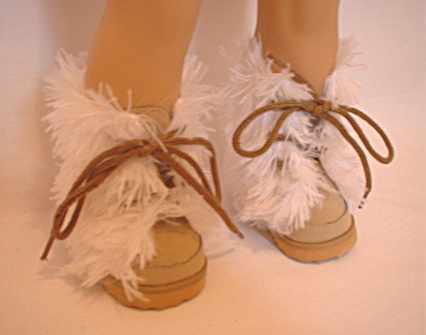 Tan Shaggy Fur Boots