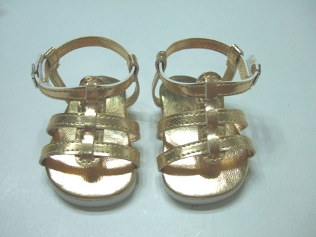 Gold Strappy Sandals /
