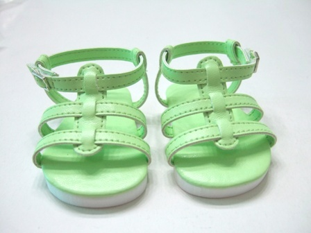 Lime Green Strappy Sandals