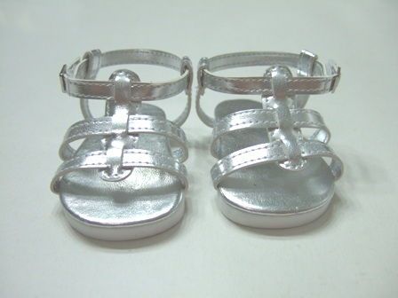 Silver Strappy Sandals /