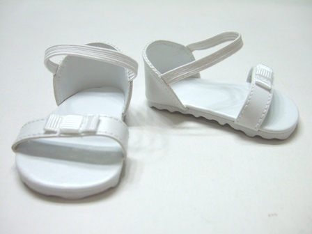 White Bow Sandals /