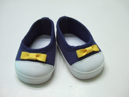 Navy Canvas Slip-On Shoes /