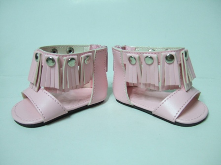 Metallic fringed sandal