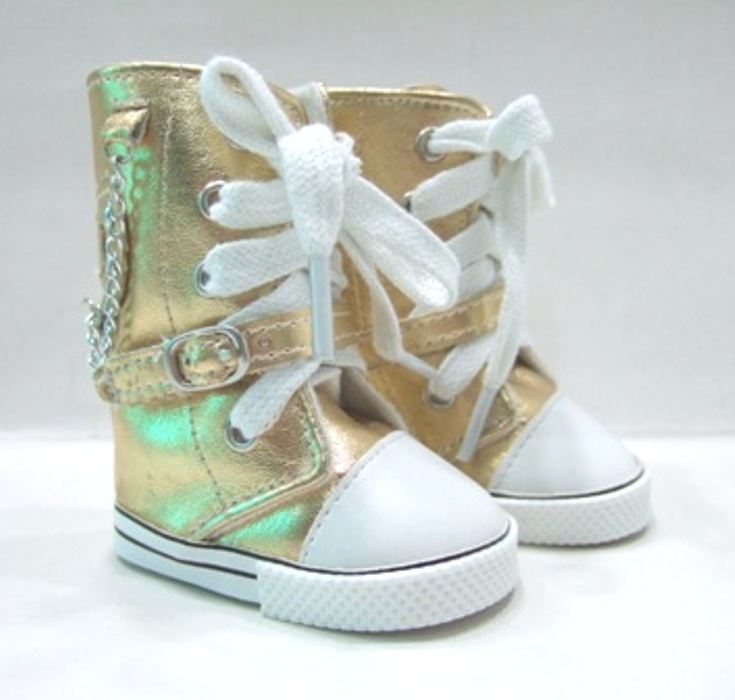 Gold Knee High Sneaker Boot